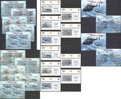 XX261 !!! IMPERFORATE, PERFORATE 2012 BURUNDI TRANSPORTATION AVIATION AMBULANCES AERIENNES 12KB+2BL+10 LUX BL MNH - Aviones
