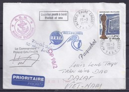 TP N° 3110 SUR LETTRE DES TAAF/ 1998 / POSTEE A BORD DU MARION DUFRESNE POUR LE VIET NAM - Storia Postale