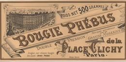 Etiquette/Bougie Phébus/Double Pression/Gds Magasins De La Place CLICHY/Chromo Doré /Vers 1910-1930       ETIQ163 - Altri