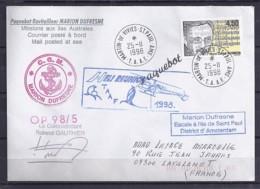 TP N°3163 SUR LETTRE DES TAAF/1998/POSTEE A BORD DU MARION DUFRESNE - Marcophilie (Lettres)
