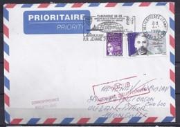 TP N°3171 SUR LETTRE DE 1999/P.H. JEANNE D'ARC POUR LA MONGOLIE - Storia Postale