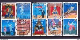 België 2009 Kleine Verzameling Nr 3929/38 G, Zeer Mooi Lot Krt 3767 - Collections (sans Albums)