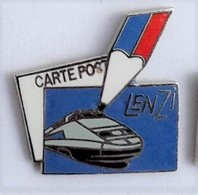 X53 Pin's SNCF TGV LENZI Carte Postale Poste Crayon Qualité Egf - TGV