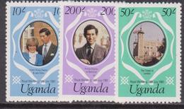 Uganda Diana Set MNH - Case Reali