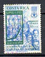 COSTA RICA. PA 395 De 1965 Oblitéré. FAO/Campagne Mondiale Contre La Faim. - Tegen De Honger