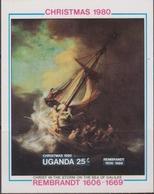 Uganda 1980 Christmas Natale Noel Navidad Rembrandt Painting Set MNH - Natale