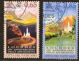 Vatican Vatikaanstad 2008 Yvertn° 1464-1465 (°) Oblitéré Used Cote 15,00 Euro Lourdes - Vatican