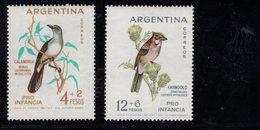 779906990 1962 SCOTT B40 B41 POSTFRIS  MINT NEVER HINGED EINWANDFREI  (XX) - BIRDS - Argentina
