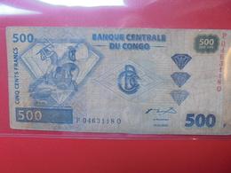 CONGO 500 FRANCS 2002 CIRCULER (B.2) - Congo
