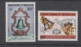 S.P.M.-1971 N°417/418** MUSEE DE SAINT PIERRE - St.Pierre Et Miquelon