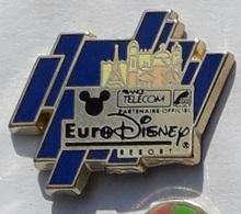 X84 Pin's FRANCE TELECOM EURODISNEY Signé Disney Tour Eiffel Achat Immediat - France Telecom