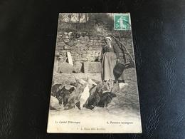 8 - Le Cantal Pittoresque - Fermiere Auvergnate - 1908 Timbrée - Paysans