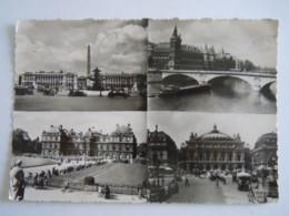 Paris Et Ses Merveilles Multi-vues Place De La Concorde & De L'Opéra Conciergerie Palais De Luxembourg Edit Leconte 1957 - Autres