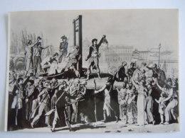Paris Exécution De Marie-Antoinette  Place De La Revolution (gravure Ecole Française) Edit Service Commercial Monuments - France