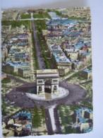 Paris Vue Aérienne L'Arc De Triomphe De L'Etoile Et L'Avenue Des Champs-Elysées Edit Greff 306 Circulée 1962 - Arc De Triomphe