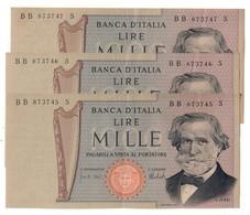 Italy 1000 Lire 15/02/1973 Consecutive AUNC / SUP - Pinholes / Fori Spillo - Price For 1 Piece / Prezzo Per 1 Pezzo - [ 2] 1946-… : Repubblica