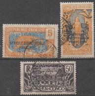CONGO  FRANCAIS     __N° 75/98/124 __OBL VOIR SCAN - Französisch-Kongo (1891-1960)