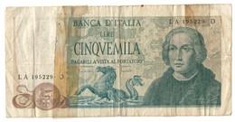 Italy 5000 Lire 20/05/1973 - [ 2] 1946-… : Républic