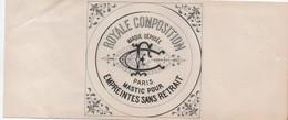 Etiquette/Royale Composition/Mastic Pour Empreintes Sans Retrait/Marque Déposée/ C F /PARIS/Vers 1910-1930      ETIQ165 - Altri