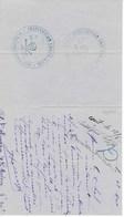 """Lettre Avec Cachets Type """"SKULL And BONES"""" (crâne Et Os Croisés) De L'Institution CHEVALLIER, 65, Rue Du Cardinal LEMOI - Organizations"""