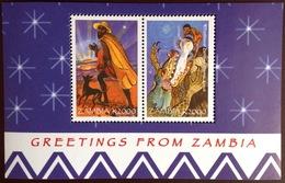 Zambia 1998 Christmas Crocodile Minisheet MNH - Zambia (1965-...)