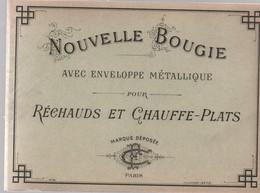Etiquette/Nouvelle Bougie/avec Enveloppe Métallique /Marque Déposée/ C F /PARIS/Vieillemard/ Vers 1910-1930      ETIQ167 - Altri