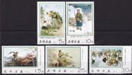Korea Nord,  1975, 1392/96, Gemälde. MNH ** - Korea (Nord-)