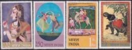 Indien, 1973, 561/64, Gemälde. MNH ** - Indien