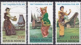 Indonesien, 1991, 1372/75, Nationales Tourismusjahr. Gestempelt, Used - Indonesien
