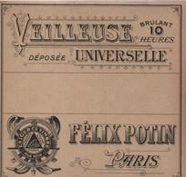 Etiquette/Veilleuse Universelle / Brûlant 10 Heures /Marque Déposée/ FELIX POTIN /PARIS/ Vers 1910-1930      ETIQ168 - Altri