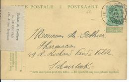 Vooroorlogse 5c-Pellens-kaart Met Opgeplakte Zegel OCB 137 Verstuurd Van Brussel Naar Schaarbeek (15.IV.1919) - Non Classés