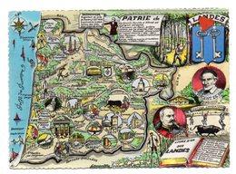 02352-LE-40-Plan Département DES LANDES-------------carte Géographique-PATRIE De ...------------multivues - France