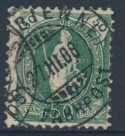 "HELVETIA - Mi Nr 92 D - Cachet ""BIEL (BIENNE) - BAHNPOST"" - (ref. 1369) - 1882-1906 Armoiries, Helvetia Debout & UPU"