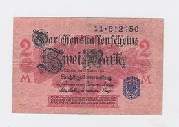 Billet De 2 Mark  Du 12-8-1914  Pick 55 Papier Rouge Tampon Bleu - [ 2] 1871-1918 : Impero Tedesco