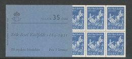 SUEDE 1964 - CARNET  YT C514a - Facit H162 - Neuf ** MNH - Le Poète Erik Axel Karlfeldt - Carnets