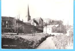 "Biesmes-(Mettet)-+/-1960-La Rivière ""La Biesmes""-l'Eglise St.Martin En Arrière Plan-Edit.Pamaprint Haillot- A.Baudelet - Mettet"