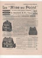 1900 PUBLICITE LA MISE AU POINT - L GAUMONT & Cie RUE ST ROCH PARIS 1er - CINEMATOGRAPHIE PHOTOGRAPHIE - 27.5 X 21.5 Cm - Publicidad