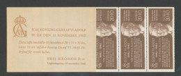 SUEDE 1962 - CARNET  YT C497a - Facit H151 - Neuf ** MNH - 80è Anniversaire Du Roi Gustaf VI Adolf - Carnets
