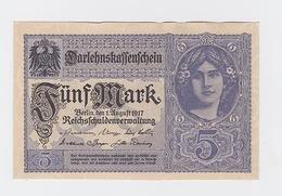 Billet De 5 Mark  Du 1-8-1917 Pick  56 Neuf - [ 2] 1871-1918 : Impero Tedesco