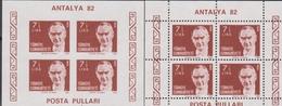 Turchia Turkey - Antalya 82'  Sheet MNH - 1921-... Repubblica