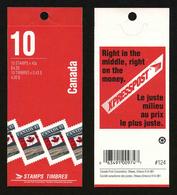 CANADA - CARNET YT C1298a - 10 TIMBRES ** - Cuadernillos Completos/libretas Completas