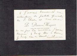 AALST 1896  OUDE VISITEKAARTJE - DAENS-MAYART - Het Land Van Aelst En De Werkman - Cartes De Visite