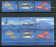 Tristan Da Cunha, Yvert 709/711+BF39, MNH - Tristan Da Cunha