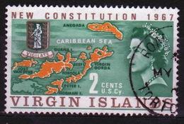 British Virgin Islands 1967 Queen Elizabeth Single 2 Cent Stamp From The New Constitution Set. - British Virgin Islands