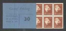 SUEDE 1960 - CARNET  YT C452a - Facit H134 - Neuf ** MNH - Gustaf Froding - Carnets