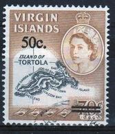 British Virgin Islands 1966 Queen Elizabeth Single 50 Cent Overprint Stamp From The Definitive Set. - British Virgin Islands
