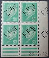 """R1949/939 - 1942 - TYPE PETAIN - BLOC NEUF** Daté N°513 Perforé """" EPN """" (EXPOSITION PHILATELIQUE NANCY) Cachet Au Verso - 1940-1949"""