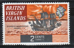 British Virgin Islands 1970 Queen Elizabeth Single 2 Cent  Stamp From The Definitive Set. - British Virgin Islands
