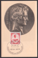 Alexander Von Humbold 1859 - 1959, Maxkarte 15.5.59, SoSt. Berlin W8 - DDR