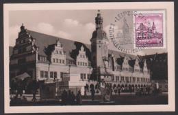 Leipzig Altes Rathaus, Maxkarte 23.11.55, SoSt. Leipzig C1 Kulturbund Zentralkoferenz DDR 493 - [6] République Démocratique